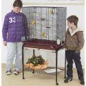 Klietka pre vtáky ASYA 72 bordová s podstavcom - 77 x 44 x 139 cm