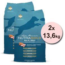 NUTRA GOLD Whitefish&Sweet Potato GRAIN FREE - 2 x 13,6 kg