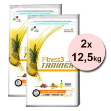 Trainer Fitness3 Adult MEDIUM MAXI, králik so zemiakmi - 2x12,5 kg