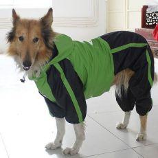 Overal pre psa - zelenočierny, L-XS