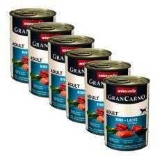 Konzerva GranCarno Original Adult hovädzie a losos + špenát - 400 g