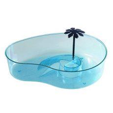 Terárium pre korytnačky s palmou - svetlomodré