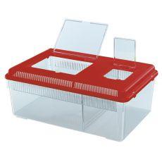 Prepravka pre plazy a hmyz GEO FLAT LARGE - červená, 8L