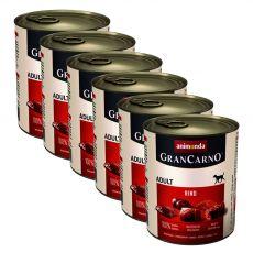 Konzerva GranCarno Fleisch Adult hovädzie mäso - 6x800 g