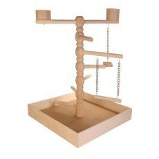Hračka pre papagáje - drevené ihrisko, 41x55x41cm