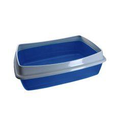 Toaleta pre mačky - modrá - 54,5 x 40 x 18 cm