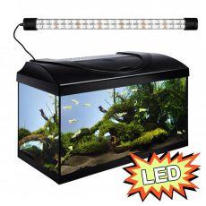 Akvárium STARTUP 60 LED Expert 13W - ROVNÉ - ČIERNE