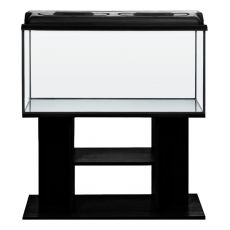 Akvárium komplet STARTUP SET 100l - rovné - čierne + stolík BUDGET