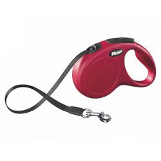 Flexi vodítko New Classic M-L do 50kg, 5m popruh - červené