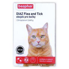 Obojok DIAZ pre mačky proti blchám a kliešťom - 35 cm