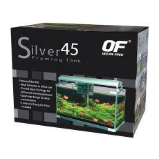 Akvárium OF SILVER 45 - strieborné 45L