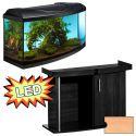 Akvárium STARTUP 80 LED Extra 2x10,1W - oblé + stolík COMFORT buk