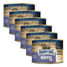 Happy Dog Pur - Büffel/byvolie mäso, 6 x 200g, 5+1 GRATIS