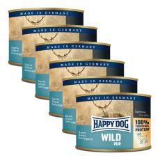 Happy Dog Pur - Wild/divina, 6 x 200g, 5+1 GRATIS