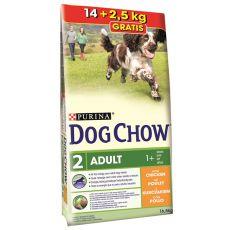 PURINA DOG CHOW ADULT Chicken 14 kg + 2,5 kg GRATIS