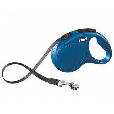 Flexi vodítko New Classic S do 15kg, 5m popruh - modré