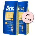 Brit Premium Adult Medium 2 x 15kg