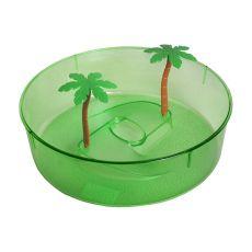 Plastové terárium pre korytnačky - zelený kruh 24,5cm