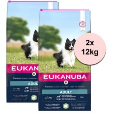EUKANUBA ADULT Small & Medium Lamb - 2 x 12 kg