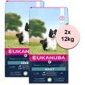 EUKANUBA ADULT Small & Medium Lamb - 2 x 12 kg