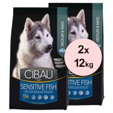 Farmina MO SP CIBAU dog SENSITIVE Fish MEDIUM & MAXI 2 x 12 kg