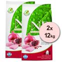Farmina N&D dog GF PUPPY SMALL & MED Chicken & Pomegranate 2 x 12 kg