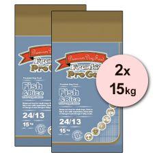Frank´s Pro Gold Fish and Rice 24/13 so zeleninou - 2 x 15kg
