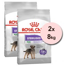 ROYAL CANIN Mini Sterilised granuly pre kastrované malé psy 2 x 8 kg