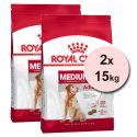 ROYAL CANIN Medium Adult 7+ granule pre dospelé starnúce stredné psy 2 x 15 kg