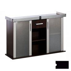 Stolík pod akvárium MODERN 150x50x77 cm DIVERSA - čierny, rovný