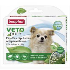 Kvapky proti hmyzu pre malých psov, prírodné - 3 ks