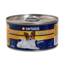 Konzerva ONTARIO Adult pre psa, kuracie kúsky + nugety, 200g