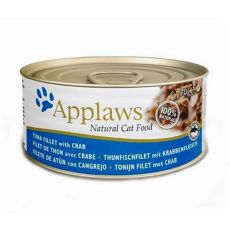 Applaws Cat - konzerva pre mačky s tuniakom a krabom, 70g