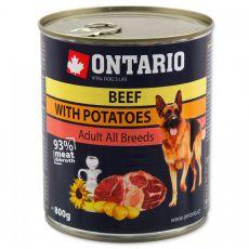Konzerva ONTARIO pre psa, hovädzie, zemiaky a olej - 800g