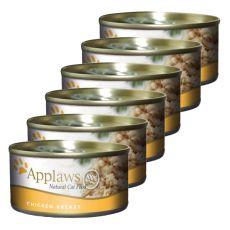 Applaws Cat - konzerva pre mačky s kuracími prsiami 6 x 70g
