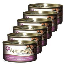 Applaws Cat - konzerva pre mačky s makrelou a sardinkou, 6 x 70g