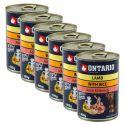 Konzerva ONTARIO pre psa, jahňacie, ryža a olej - 6x400g
