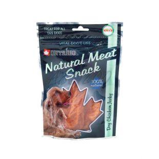 Kuracie plátky, sušené - pamlsky pre psa ONTARIO, 70 g