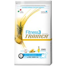 Trainer Fitnes3 Adult MEDIUM & MAXI - ryba a kukurica 12,5kg