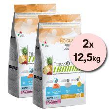 Trainer Fitness3 Puppy & Junior MEDIUM MAXI - fish and rice 2 x 12,5kg