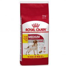 ROYAL CANIN Medium Adult granule pre dospelé stredné psy 15 kg + 3 kg