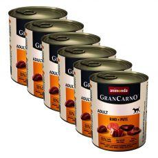 Konzerva GranCarno Fleisch Adult hovädzie + morka - 6 x 800g