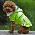 Bunda pre psa s imitáciou vreciek na zips - neónovo zelená, XS