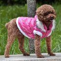 Bunda pre psa s odopínateľnou kapucňou - ružová, XXL