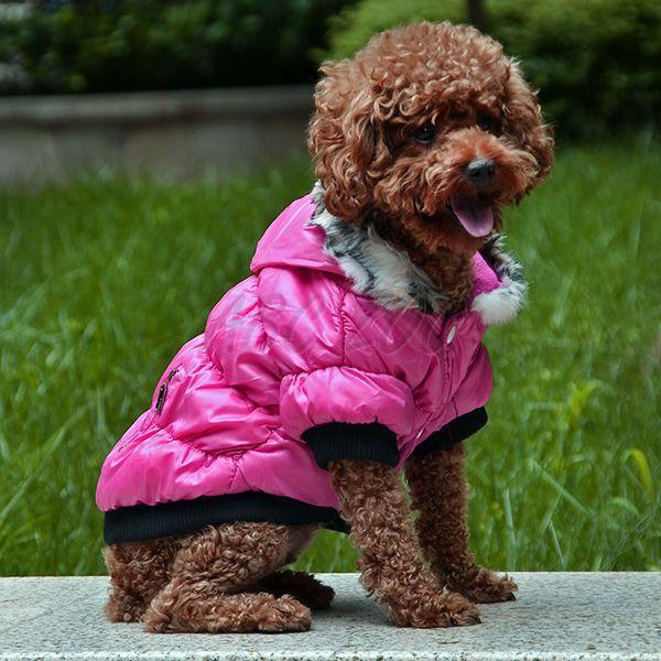 Bunda pre psa s čiernym lemovaním- ružová 5cdd6cb3f09