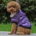 Bunda pre psa s čiernym lemovaním - fialová, M
