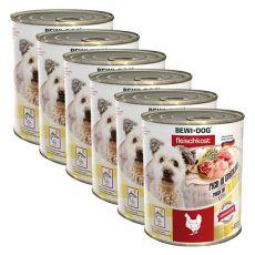 New BEWI DOG konzerva – Chicken - 6 x 800g