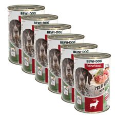 New BEWI DOG konzerva – Wild - 6 x 400g, 5+1 GRATIS