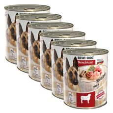 New BEWI DOG konzerva – Jahňa - 6 x 800g, 5+1 GRATIS