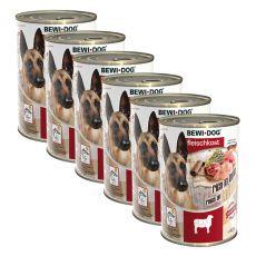 New BEWI DOG konzerva – Jahňa - 6 x 400g, 5+1 GRATIS